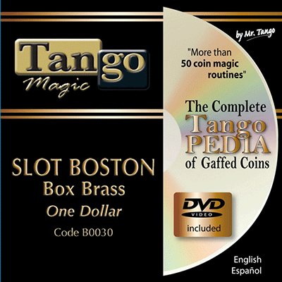 Slot Boston Coin Box (BRASS w/DVD)(B0030) One Dollar by Tango Magic - Trick
