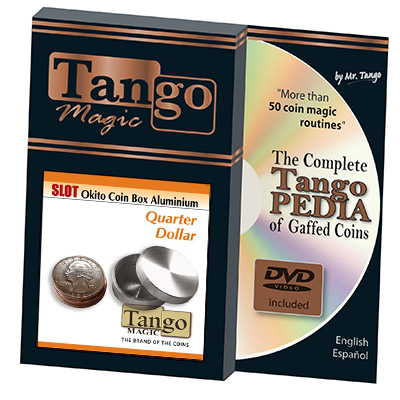 Slot Okito Coin Box Quarter Aluminum by Tango - Trick (A0014)
