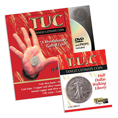 Tango Silver Line T.U.C. (D0117) Walking Liberty Half Dollar (w/DVD) by Tango - Trick