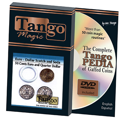 Euro-Dollar Scotch And Soda (50 Cent Euro and Quarter Dollar w/DVD)(ED001)by Tango-Trick