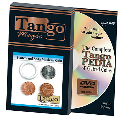 Scotch And Soda Mexican Coin (w/DVD)(D0050) by Tango - Trick
