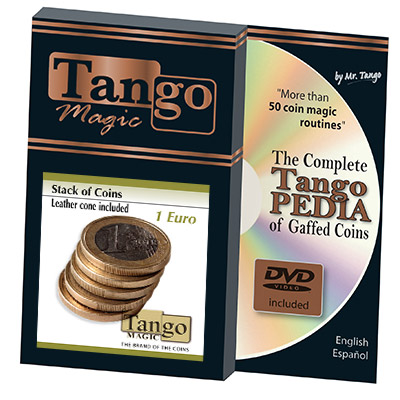 Stack of Coins (1 Euro w/DVD) by Tango Magic - Trick (E0052)