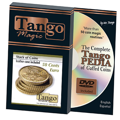 Stack of Coins 50 cent Euro by Tango - Trick (E0051)