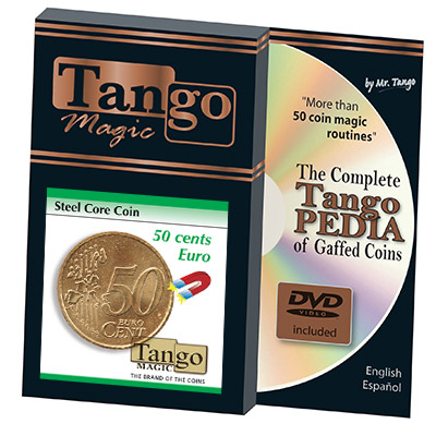 Steel Core Coin (50 Cent Euro w/DVD) by Tango -Trick (E0022)