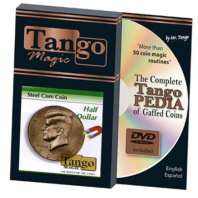 Steel Core Coin US Half Dollar (w/DVD) by Tango -Trick (D0029)