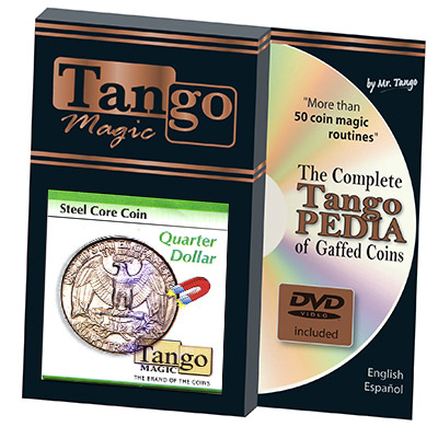Steel Core Coin US Quarter Dollar (w/DVD) (D0030) by Tango -Trick