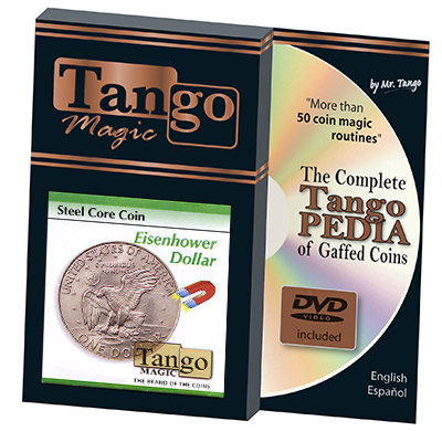 Steel Core Coin Eisenhower US Dollar (w/DVD)(D0028) by Tango -Trick