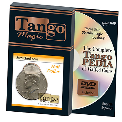 Stretched Coin - Half Dollar (w/DVD) by Tango - Trick (D0096)