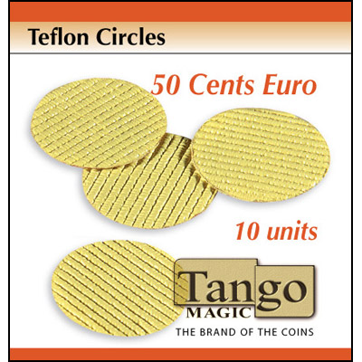 Teflon Circle 50 cent Euro size (10 units w/DVD) by Tango-Trick (T004)