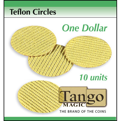 Teflon cricles Dollar size (10 units w/DVD) by Tango -Trick (T002)