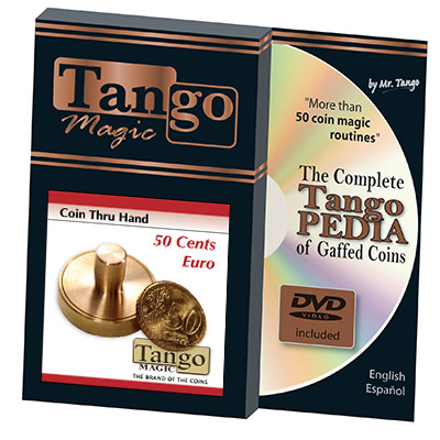 50 cents Euro Thru Hand (w/DVD) by Tango - Trick (E0057)