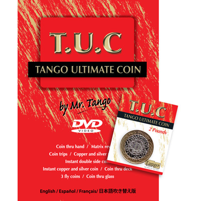 Tango Ultimate Coin (T.U.C.)(P0001)2 Pounds with instructional DVD by Tango - Trick