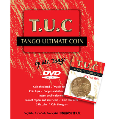 Tango Ultimate Coin w/DVD (T.U.C)(E0080)50 cent Euro  by Tango - Trick