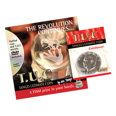 Tango Ultimate Coin (T.U.C)(D0109)Eisenhower Dollar with instructional DVD by Tango - Trick