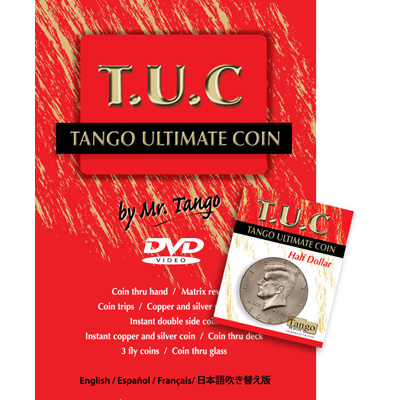 Tango Ultimate Coin (T.U.C)(D0108) Half dollar with instructional DVD by Tango - Trick