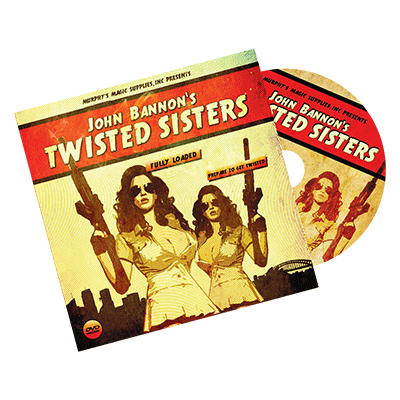 Twisted Sisters 2.0 (DVD and Gimmick) Mandolin Card by John Bannon - Trick