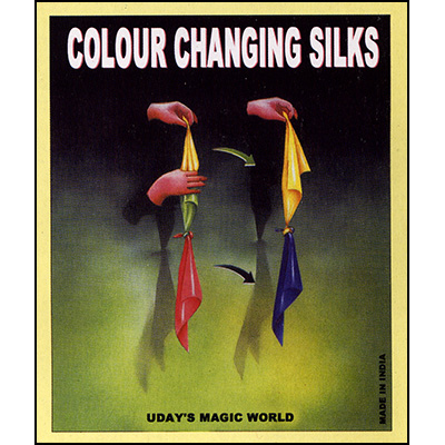 Color Changing Silks 18 Inches (Pure Silk) by Uday - Trick