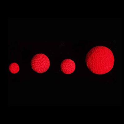 1.5 inch Crochet Balls (Red)