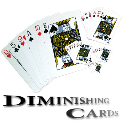 Diminishing Cards by Uday - Trick