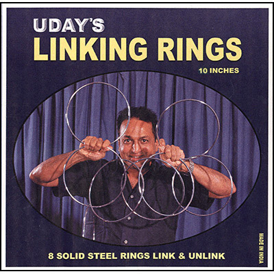 "10"" Linking Rings (8) by Uday - Trick"