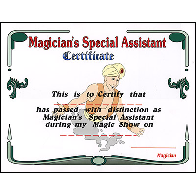 Magician's Assistant Certificate by Uday - Trick