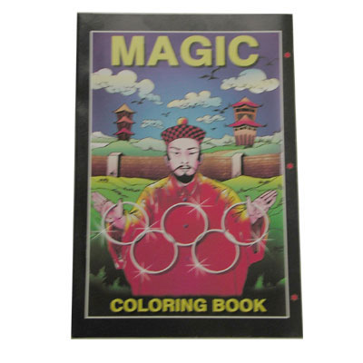 Micro Coloring Book (magician) Size 4x6. by Uday