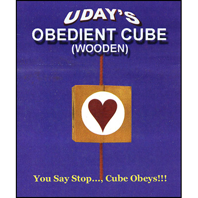 Obedient Cube in Wood by Uday - Trick