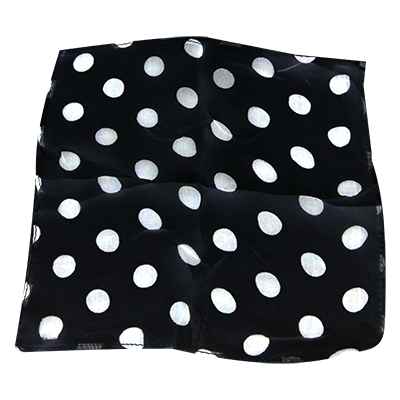 "Spotted Silk 12"" Black with White spots by Uday - Trick"