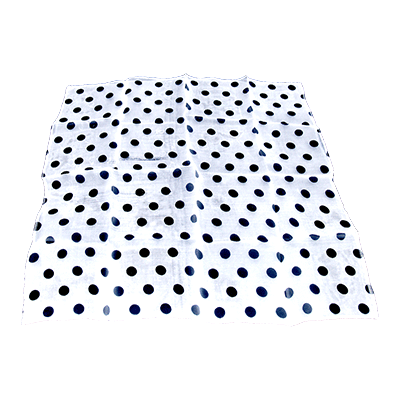 "Spotted SIlk 18"" white with black spots by Uday - Trick"