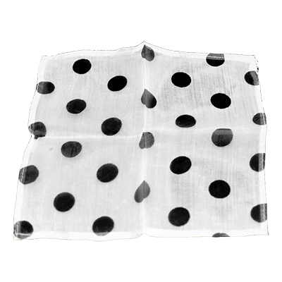 "Spotted Silk 06"" White/Black Spots by Uday - Trick"