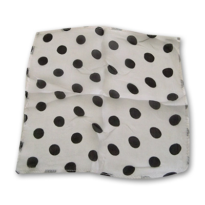 "Spotted Silk 09"" White w/blk spots by Uday"