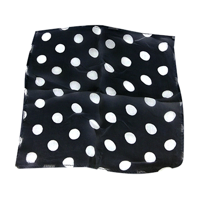 "Spotted Silk 09"" Black w/white spots by Uday"