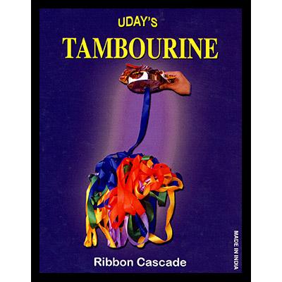 Tambourine Brass with Ribbon