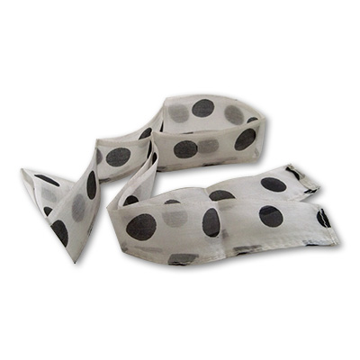 Thumb Tip Streamer(Polka Dots - Black dots on White) by Uday - Trick