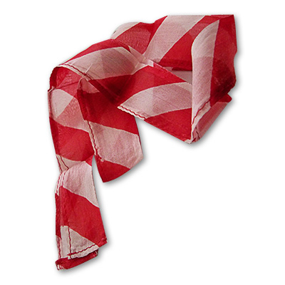 Thumb Tip Streamer (Zebra - Red & White) by Uday - Trick