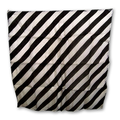"Zebra Silk 15"" black & white by Uday - Trick"
