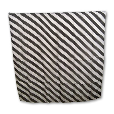 "Zebra Silk 24"" Black & White by Uday - Trick"
