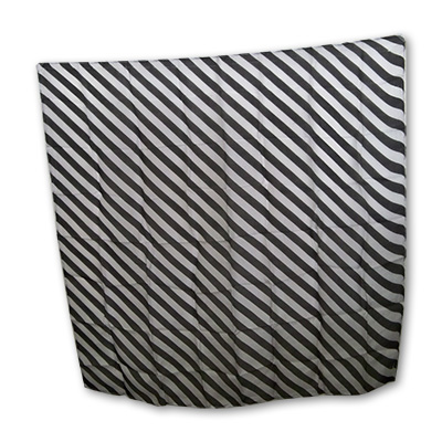 "Zebra Silk 36"" black & white - Uday"