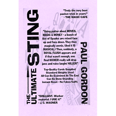 The Ultimate Sting by Paul Gordon