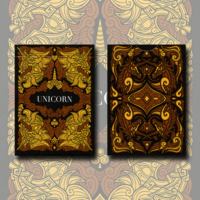 Unicorn Playing cards (Copper) - Aloy Design Studio USPCC