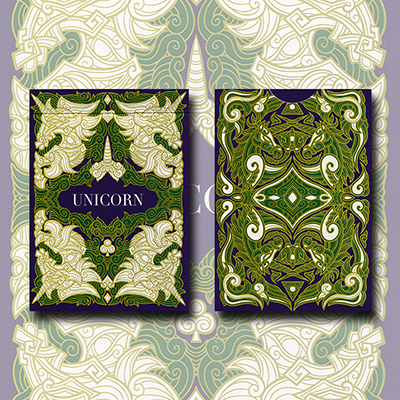 Unicorn Playing cards (Emerald) Aloy Design Studio USPCC