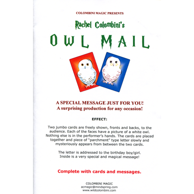 Owl Mail by Wild-Colombini Magic - Trick