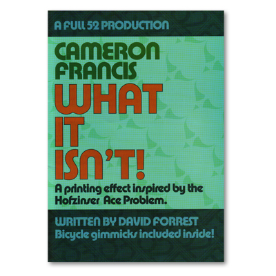 What It Isn't - Cameron Francis