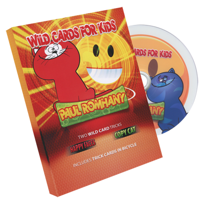 Wild Card Tricks For Kids! (DVD & Gimmicks) - Paul Romhany
