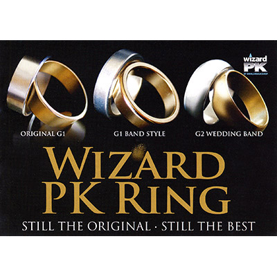 Wizard PK Ring G2 (CURVED, GOLD, 23mm, Large) by World Magic Shop - Trick