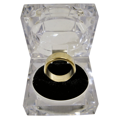 Wizard PK Ring Original (FLAT, GOLD, 21mm, Medium) by World Magic Shop - Trick