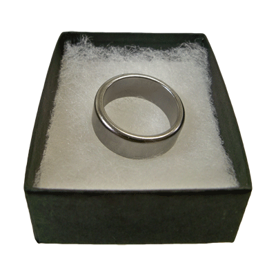 Wizard PK Ring Original  (FLAT, SILVER, 24mm) by World Magic Shop - Trick