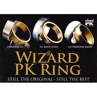 Wizard PK Ring Original (FLAT, GOLD, 25mm, Extra Large) by World Magic Shop - Trick