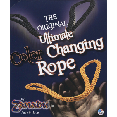Amazing Color Changing Rope (Black/Yellow) by Zanadu - Trick
