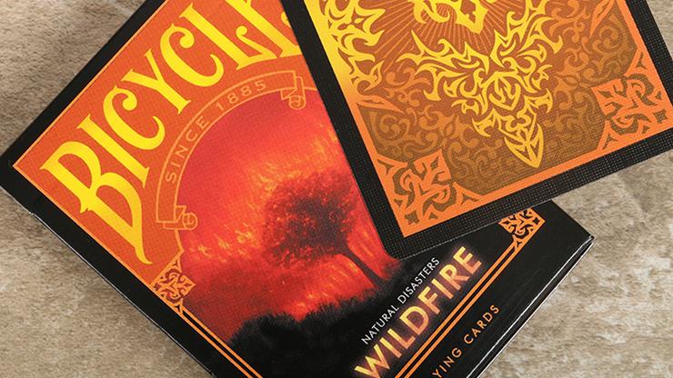 "Carti de joc Bicycle Natural Disasters ""Wildfire"""
